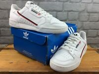 ADIDAS OG MENS WHITE CONTINENTAL 80 LEATHER TRAINERS RETRO VARIOUS SIZES RRP £75
