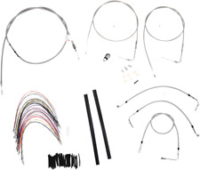 "Burly Braided Stainless Steel Cable/Brake Line Kit 16"" Ape Hanger B30-1080"
