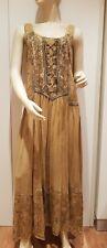 BÄRES Langes Kleid L/XL Corsage Hippie Batik Mittelalter Markt Sommerfest (K5)