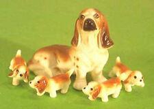 basset hound familie porzellanfigur porzellan figur hund hundefigur 2246