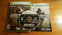 Xbox 360 game bundle Call of Duty 4 Modern Warfare & Splinter Cell Double Agent