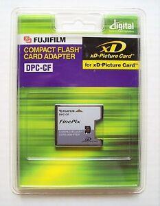 New Fujifilm Compact Flash Card Adapter DPC-CF Finepix