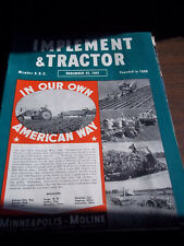 Vintage Farm Machinery Magazine: IMPLEMENT & TRACTOR, NOVEMBER 22, 1941