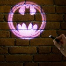 LICENSED BATMAN POCKET SIZED BAT MAN SIGNAL PROJECTION TORCH FLASHLIGHT KEYRING