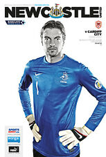 NEWCASTLE v CARDIFF 2013/14 MINT PROGRAMME 2014 TIM KRUL COVER