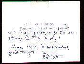 OLIVIA de HAVILLAND autograph note initialled