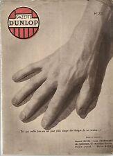 GAZETTE DUNLOP 238 1947 CARTE LIGNES AIR FRANCE LES RELIEURS FRANCAIS GP 1947
