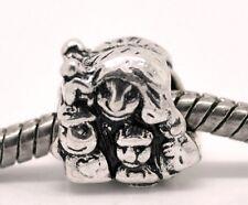 Mother Children Kids Family Single Mom Spacer Charm for European Bead Bracelets