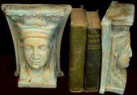 Egyptian Queen Isis Sculpture Bookends Goddess 14023