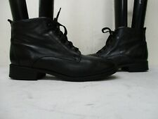 DEXTER Black Leather Lace Up Ankle Boots Womens Size 9.5 N Style S-125-1 USA
