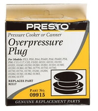 NEW Presto Rubber Pressure Cooker Canner Over Pressure Plug Replacement 09915