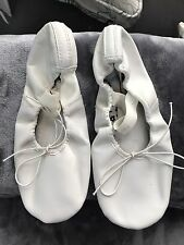 Capezio Little Girls BALLET Dance Shoes~WHITE~Size 7.5~Soft Leather