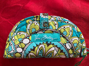 VERA BRADLEY RETIRED PEACOCK PATTERN Spring 2007 Make Up Coin Purse New