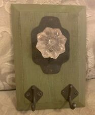 At Home America Green And Doorknob Wall Key Holder