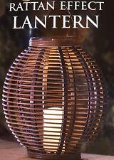 Absolute XL Two Tone Solar Rattan Effect Outdoor Garden Lantern - Brand New