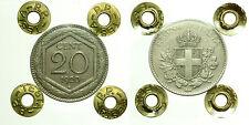 pcc1709) Vittorio Emanuele III (1900-1943) 20 centesimi 1920 Esagono sigillata
