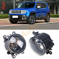 For Jeep Renegade 2015-2018 Fog Light o Bumper Light Driving Lamp Clear Lens Pai