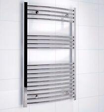 KUDOX SILVER CURVED TOWEL RAIL (H)1000 (W)600 MM Bathroom B&Q RRP £90