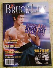 Bruce Lee Official Publication, Bruce Lee Screen Test Interview - November 2000
