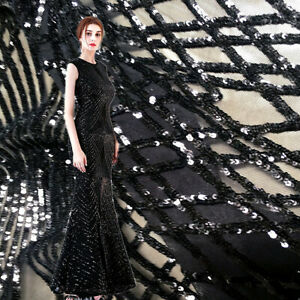 Four Ways Stretchable Evening Dress Lace Fabric Costume Dancing Wear Tulle 0.5 Y