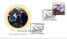 FDC 25° FALL BERLIN WALL 0,85 € VATICAN 2014 First Day Cover CADUTA MURO BERLINO