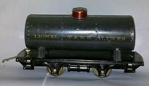 Lionel Early Period 804 Tank Car DK GREY Prewar RARE 1st issue RED PAINTED DOME