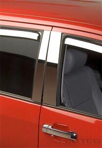 Putco 402620 Door Pillar Post Trim Set Stainless Steel fits 07-17 Toyota Tundra