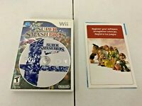 AUTHENTIC Super Smash Bros. Brawl (Wii, 2008) - DISC & ORIGINAL CASE