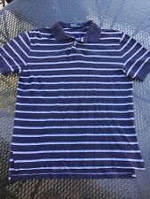 POLO BY RALPH LAUREN NAVY STRIPED Polo Shirt Size L