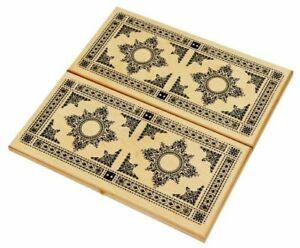 "24"" Large Classic Backgammon Set - Wooden Folding Case ""Eastern Pattern"" - НАРДЫ"