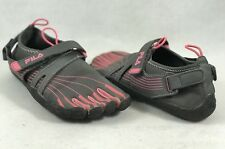 Fila Skeletoes Minimal Running Toe Shoe Womens Size 6 Black Pink - 1354