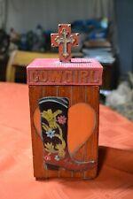 Western Themed Decorative Equestrian Pinkish Resin Cowgirl Female Storage Box