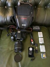 Canon EOS 650d with 18-55mm lens 3 batteries and more