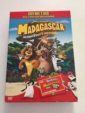 Coffret DVD Madagascar 1 et Les pingouins de Madagascar dans mission Noel [PAL]