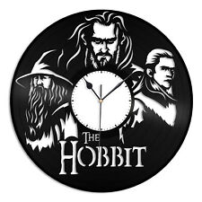 Hobbit Vinyl Wall Clock Record Unique Design Gift Friends Home Room Decoration