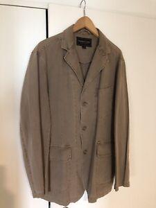 Mens Casual Linen Jacket. Coat Size Europe 52. LARGE. Excellent  Condition