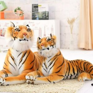 30-120CM Giant White Tiger Stuffed Toy Baby Lovely Big Size Tiger Plush Doll