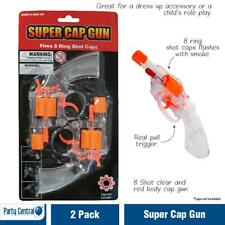 2 x Toy Cap Gun Revolver 8 Shot Ring Pistol & 144 Shot Refills Free