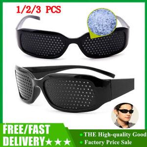 3PCS Vision Spectacles Eyesight Improver Pin Hole Eyes Training Exercise Glasses