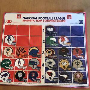 VINTAGE 1977 lot of 22 NFL HELMET MAGNETS & BOARD