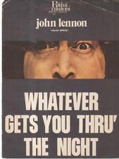 WHATEVER GETS YOU THRU' THE NIGHT PRIMA EDIZIONE LENNON JOHN RITMI E CANZONI