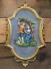 Vintage Empire 3D Wall Plaque Framed Courting Picture