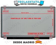 """PANTALLA PARA PORTATIL LTN140AT20-G01 14"""" 1366x768 HD LED LCD 40 pin"""