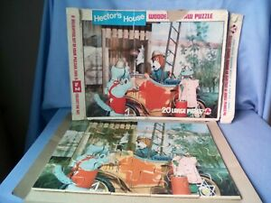Hectors house Jigsaw. Vintage. 70's. 20 large wooden pieces. Original box,