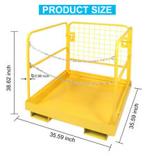 """New listing 800lbs 36""""x36"""" Forklift Man-lift Safety Basket Telescopic Handler Cradle Cage"""