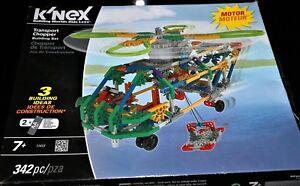 K'Nex Transport Chopper Motorised Building Set 11413 -342 Pieces Brand New 7yrs+