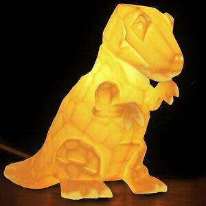 3D Ceramic Lamp Dinosaur - porcelain, T-Rex, dino, night light, children's light