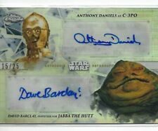 TOPPS Star Wars C-3PO & Jabba The Hutt Authentic  DUAL Autograph 15/25 MINT