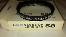 Canon 58mm Close-Up Lens 240 Clear NIB