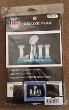 Super Bowl 52 Lii Nfl Logo Deluxe Edition 3x5 Flag Tailgating Eagles Foles Wentz
